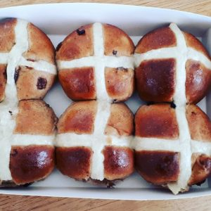 April 9 That time we added Locally Made Hot Cross Buns! YUM!